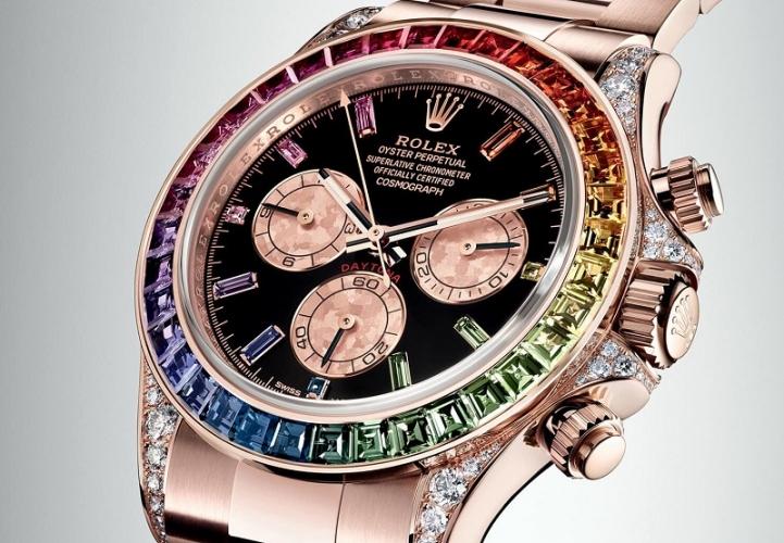 orologio rolex pietre colorate