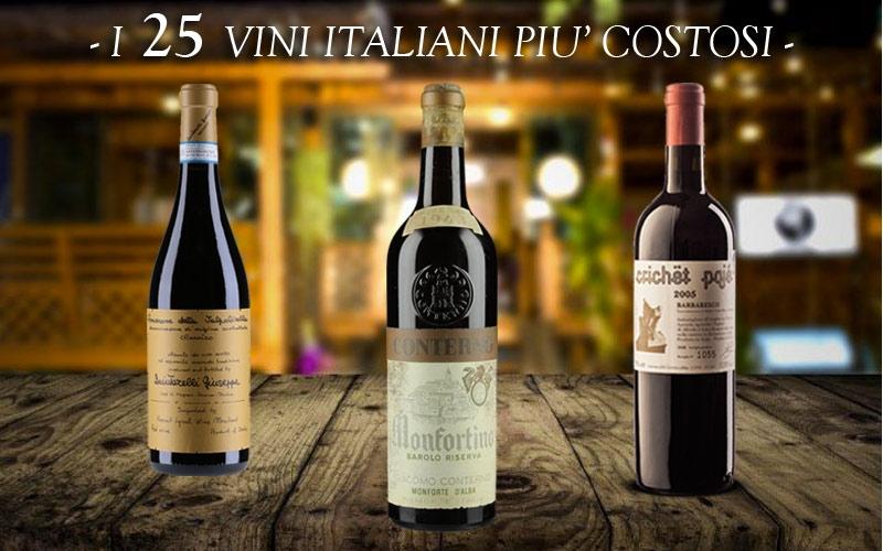 quali sono i 25 vini italiani più costosi