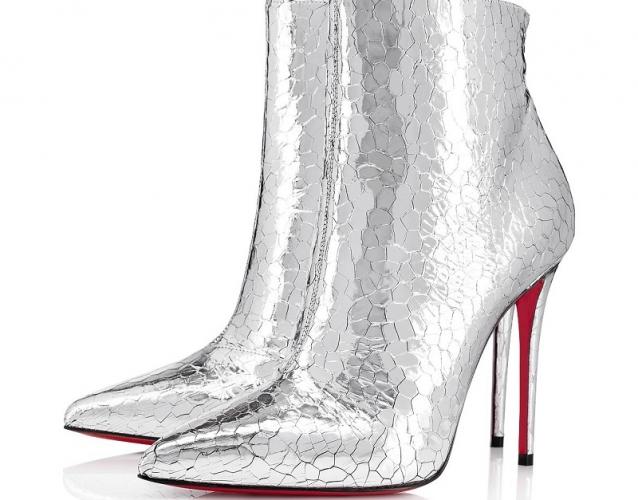 stivali louboutin argento