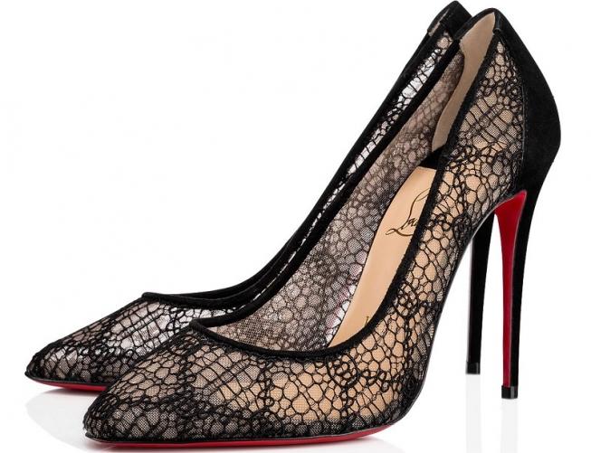 scarpe louboutin pizzo