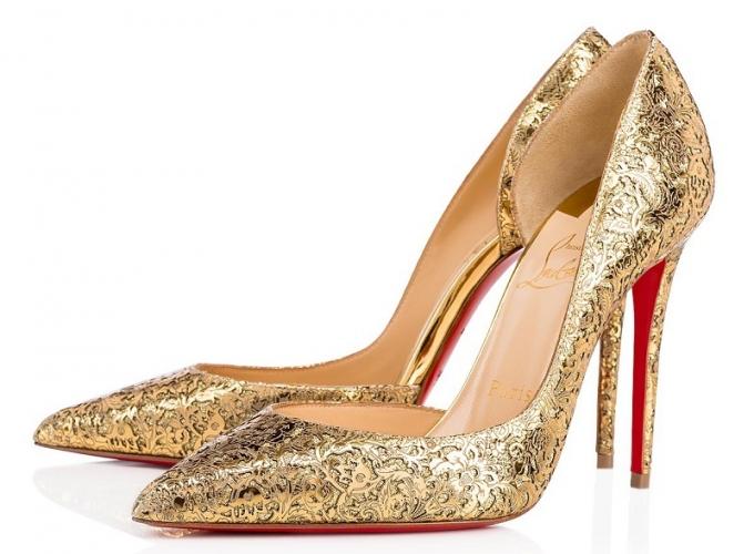 scarpe louboutin oro